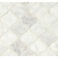MRBWHTCARARB-H - White Carrara Mosaic - White Carrara