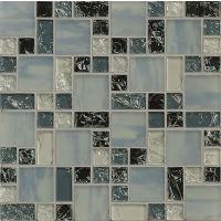 GLSMGICPG4 - Ice Crackle Glass Mosaic Mosaic - Gray