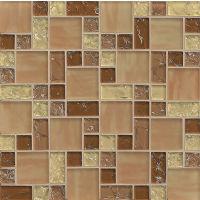 GLSMGICPG5 - Ice Crackle Glass Mosaic Mosaic - Tan