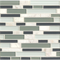GLSMGTG3 - Tiffany Glass Mosaic Mosaic - Sterling