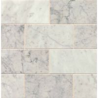 MRBWHTCAR0306P - White Carrara Tile - White Carrara