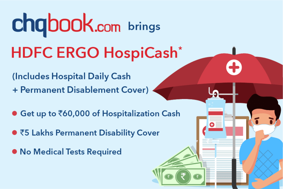 Chqbook brings HDFC ERGO HospiCash