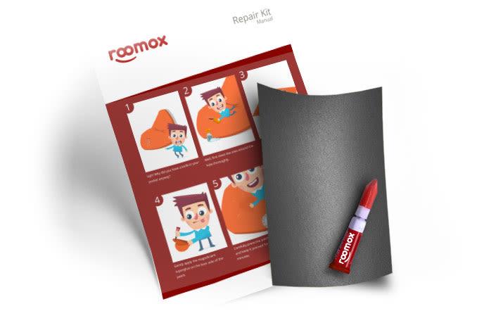Roomox Beanbag Repairkit-NYL36 -Light grey