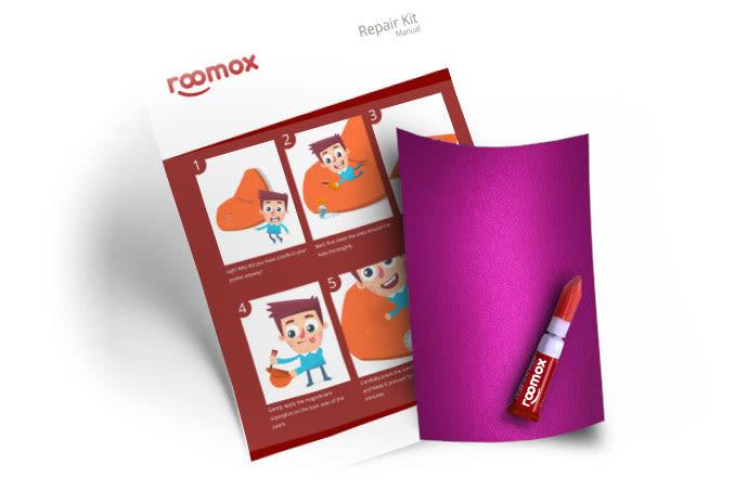 Roomox Beanbag Repairkit-NYL08 - Pink