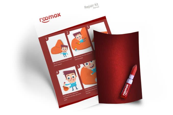 Roomox Beanbag Repairkit-NYL03 - Red