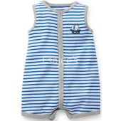 Carters  Boys Applique Snap Up Romper Dress 1 Piece