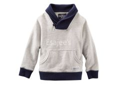 OshKosh Boys Shawl Collar Cardigan Jacket Grey
