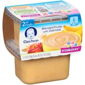 Gerber  Baby Food Blended Fruits With Oatmeal