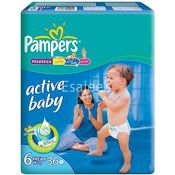 Pampers Active Baby Extra Large Diapers - Size 6