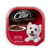 Cesar Dog Foods With Beef In Meaty Juices