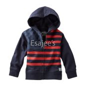 OshKosh Oshkosh Boys American Flag French Terry Hoodie Jacket Navy