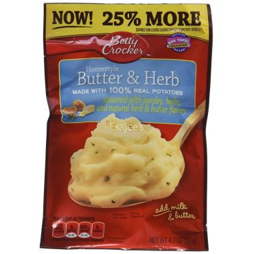 Betty Crocker Mashed Potatoes Butter & Herb