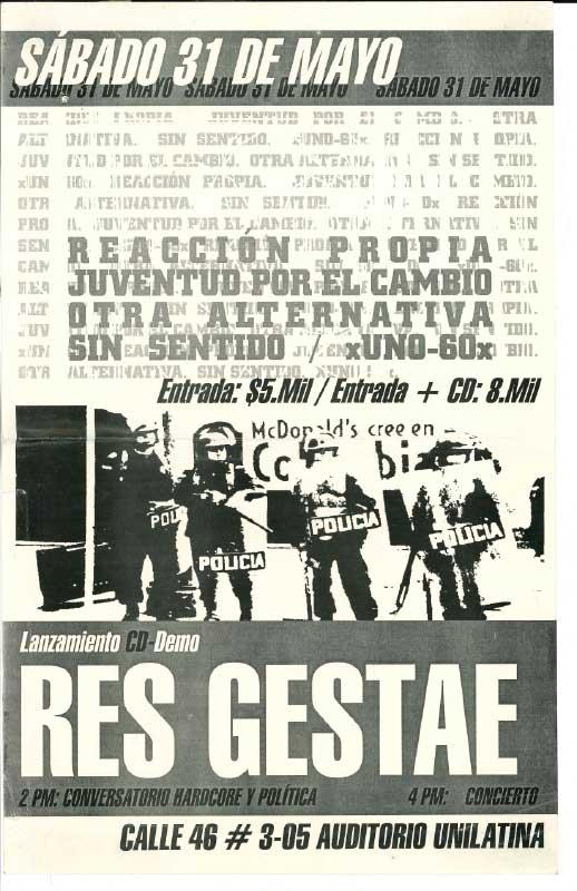 Lanzamiento CD-Demo Res Gestae