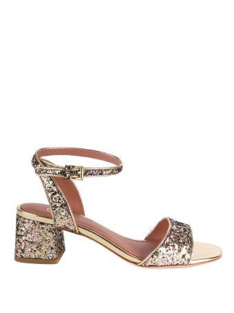 Opium Sandals Gold Glitter