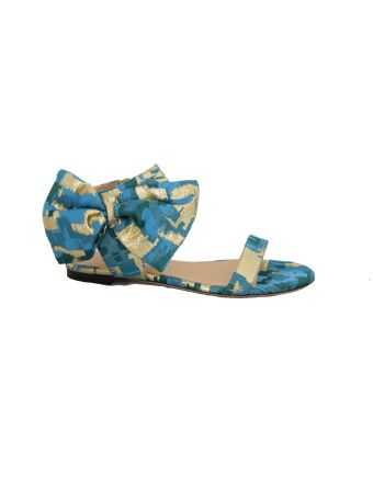 Gianluca Capannolo Patterned Bow Sandals
