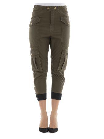 Brown Polyester Pants
