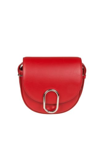Phillip Lim Alix Mini Saddle Crossbody Leather Color Red