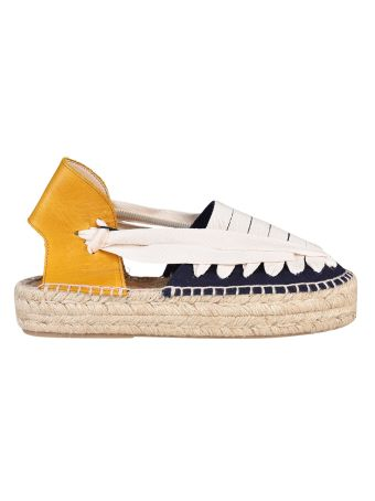 Tommy Hilfiger Leather Wedge Espadrilles