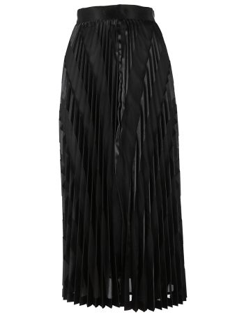 Off White Pleated Skirt