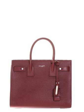 Saint Laurent Small Sac De Jour Souple Bag In Dark Red Grained Leather