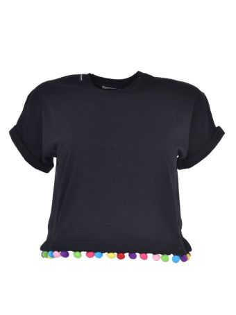 Forte Couture Embellished Cropped T-shirt