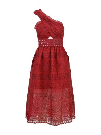 self-portrait Strawberry Lace Dress