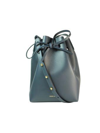 Dark Blue Mini Bucket Bag