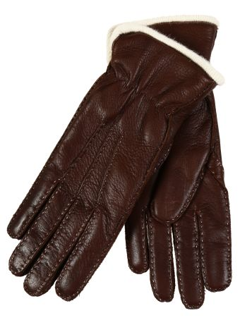 Restelli Deer Hand-Stitched Gloves With Cashmere Lining.