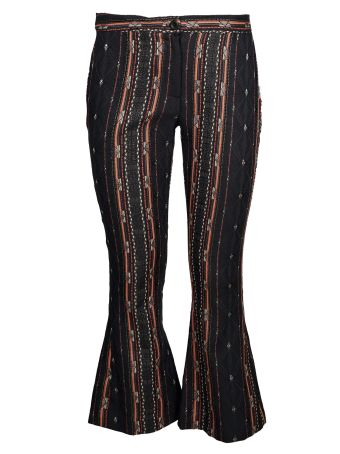 Black Coral Cropped Leggings