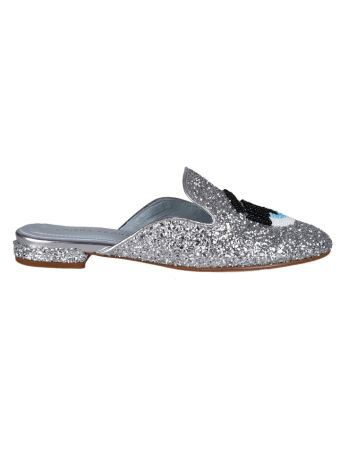 Chiara Ferragni Beaded Eye Mules