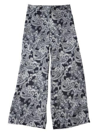 Blue Paisley Satin Trousers