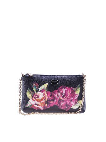 Dolce & Gabbana Rose Print Clutch