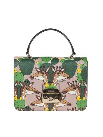 Furla Hand Bag Metropolis S Leather Multicolor