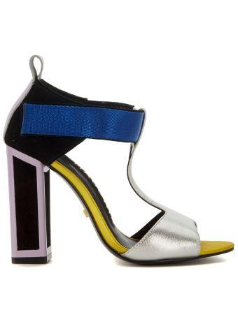 Sandalo Con Tacco Cat Makonie Stephy In Pelle Multicolore