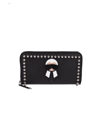 Fendi Karlito Zip Around Wallet