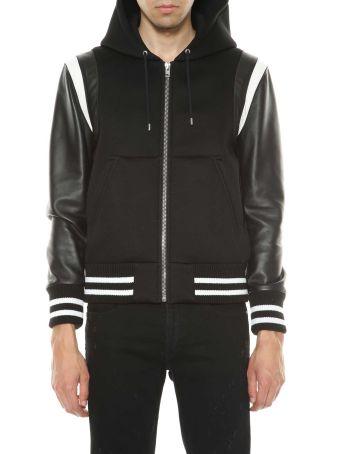 Givenchy Leather Bomber Jacket With Logo