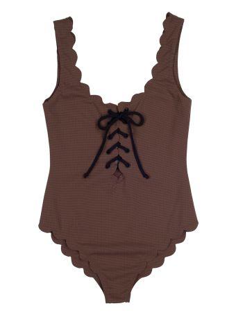 Marysia Swim Palm Spring Tie Scallop-edged Swimsuit