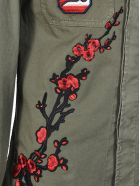 History Repeats Floral Embroidery Military Jacket