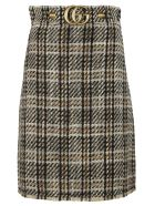Gucci Classic A-line Tweed Skirt