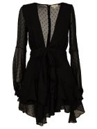 For Love & Lemons Tarta Long-Sleeved mini Dress
