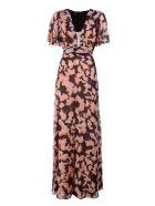 Bcbg Max Azria Anaelle Kimono Floral-print Silk Maxi Dress