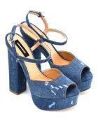 Dsquared2  Worn Effect Denim Sandals