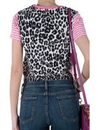 Marc Jacobs Leopard Print Stripe Jersey T-shirt