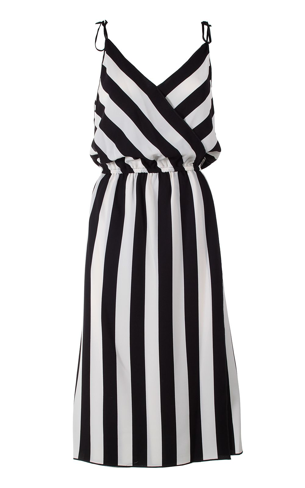 Marc Jacobs Striped Crossover Crepe Dress