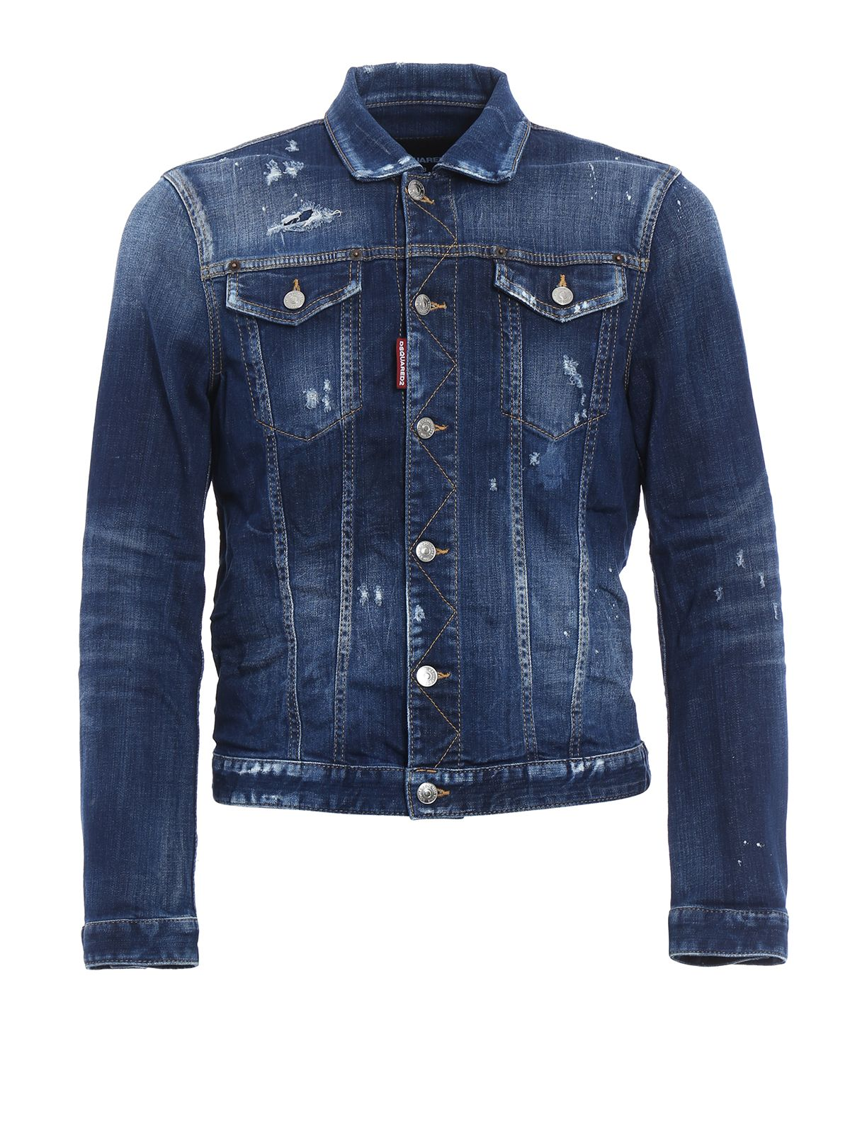 Ripped And Spotted Denim Jacket