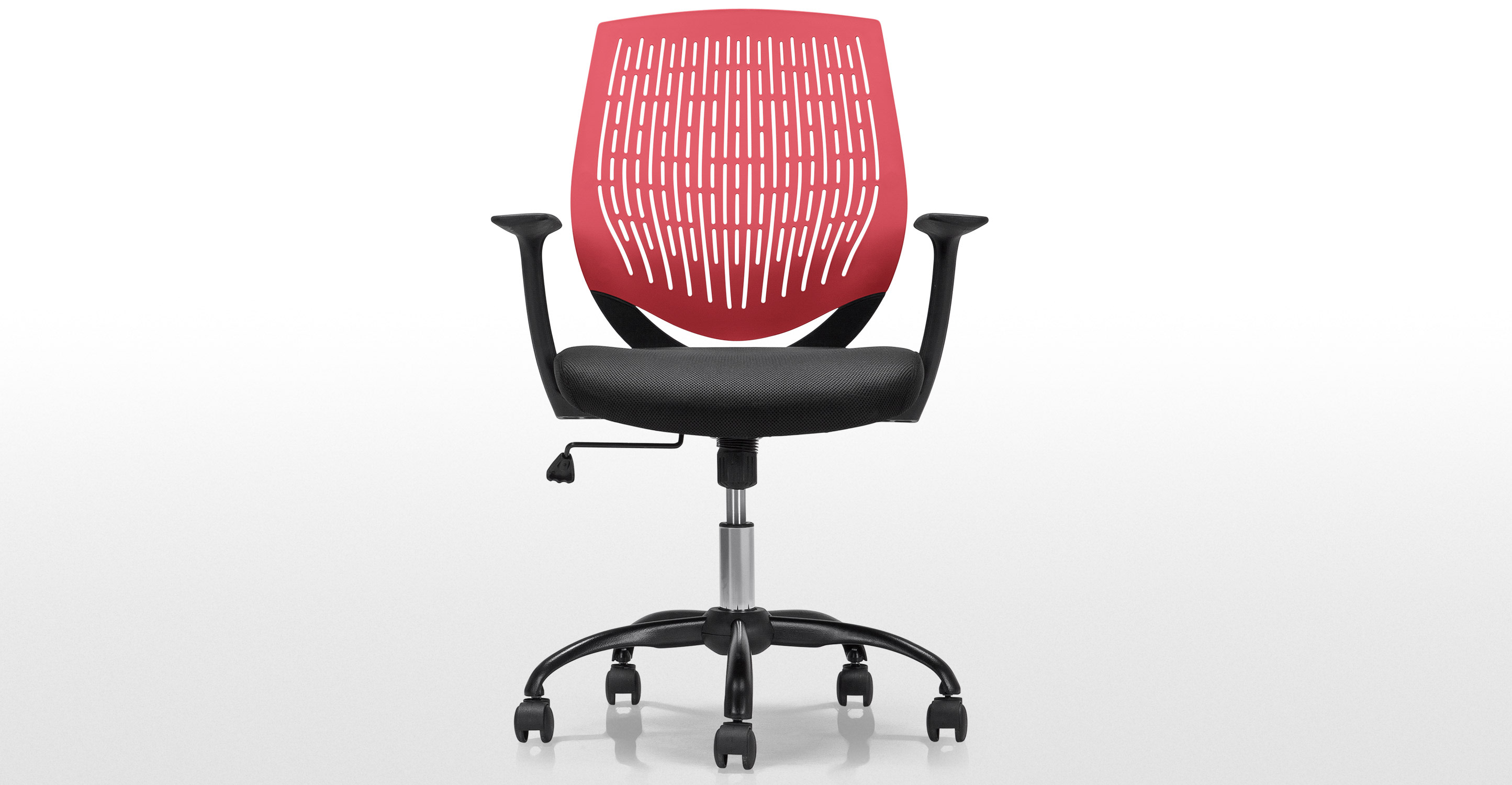 ufficio swivel office chair in black and red