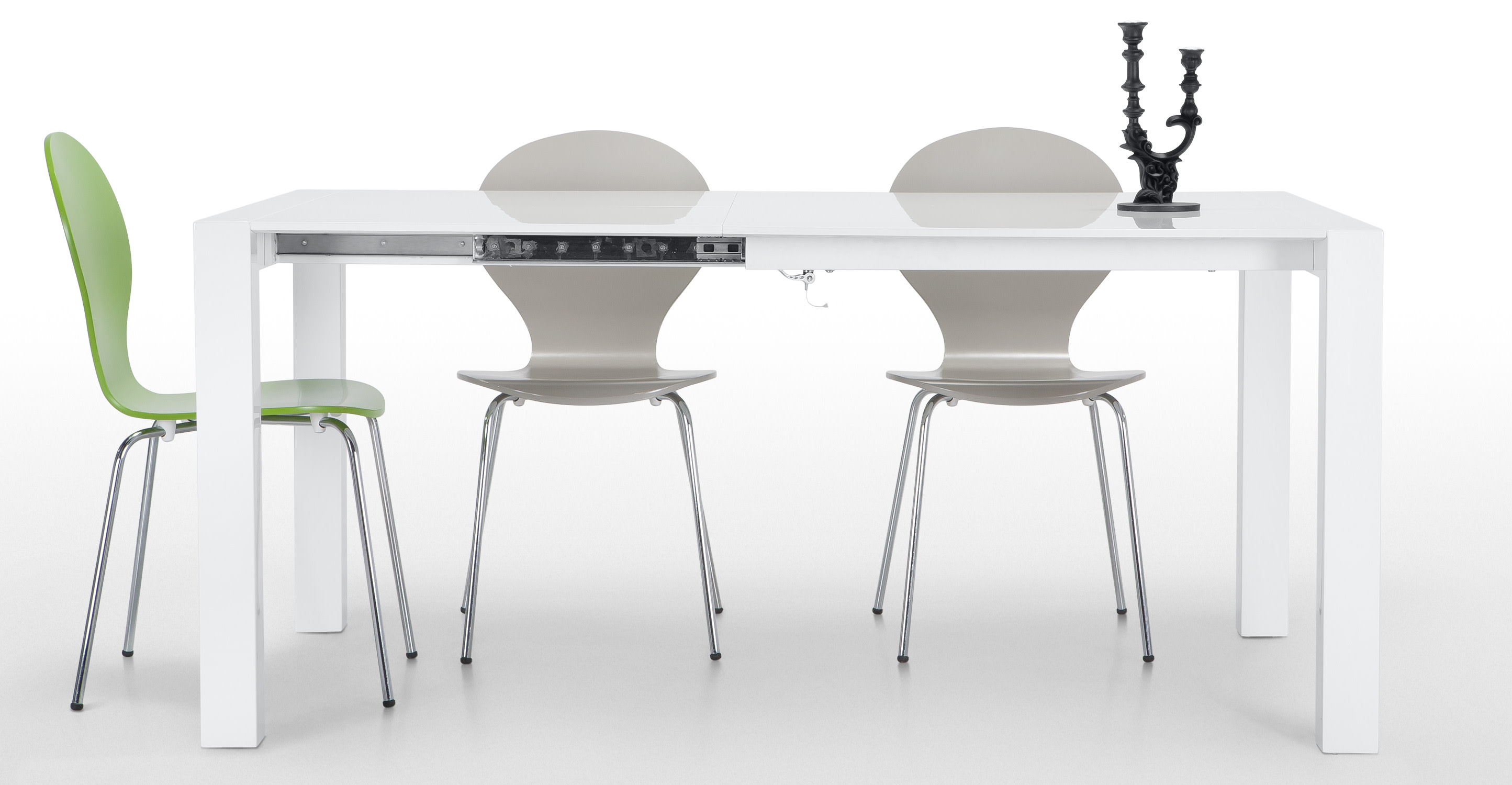 Bramante Extendable Square Dining Table In White