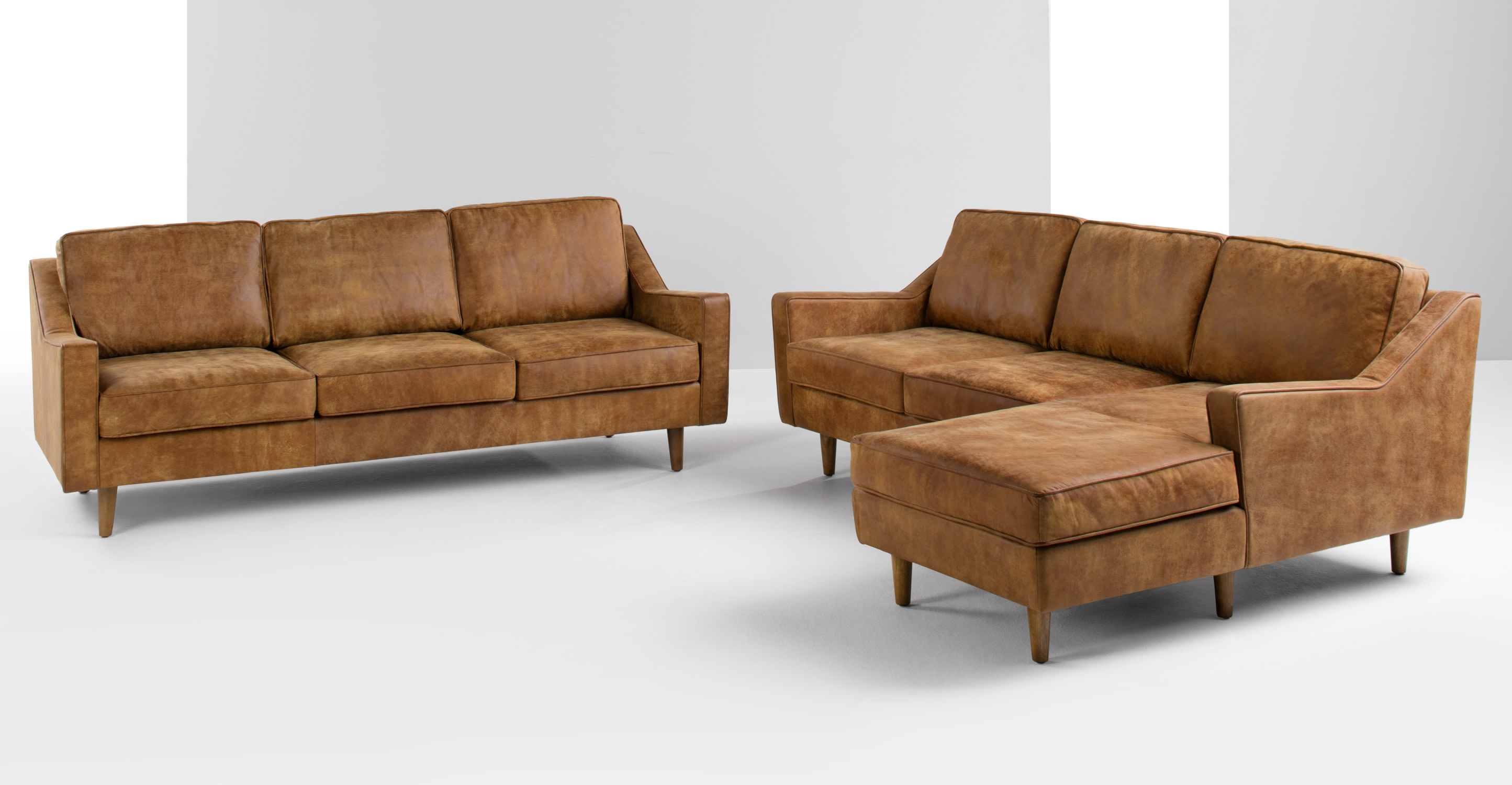 Dallas 2 Seater Sofa Outback Tan Premium Leather
