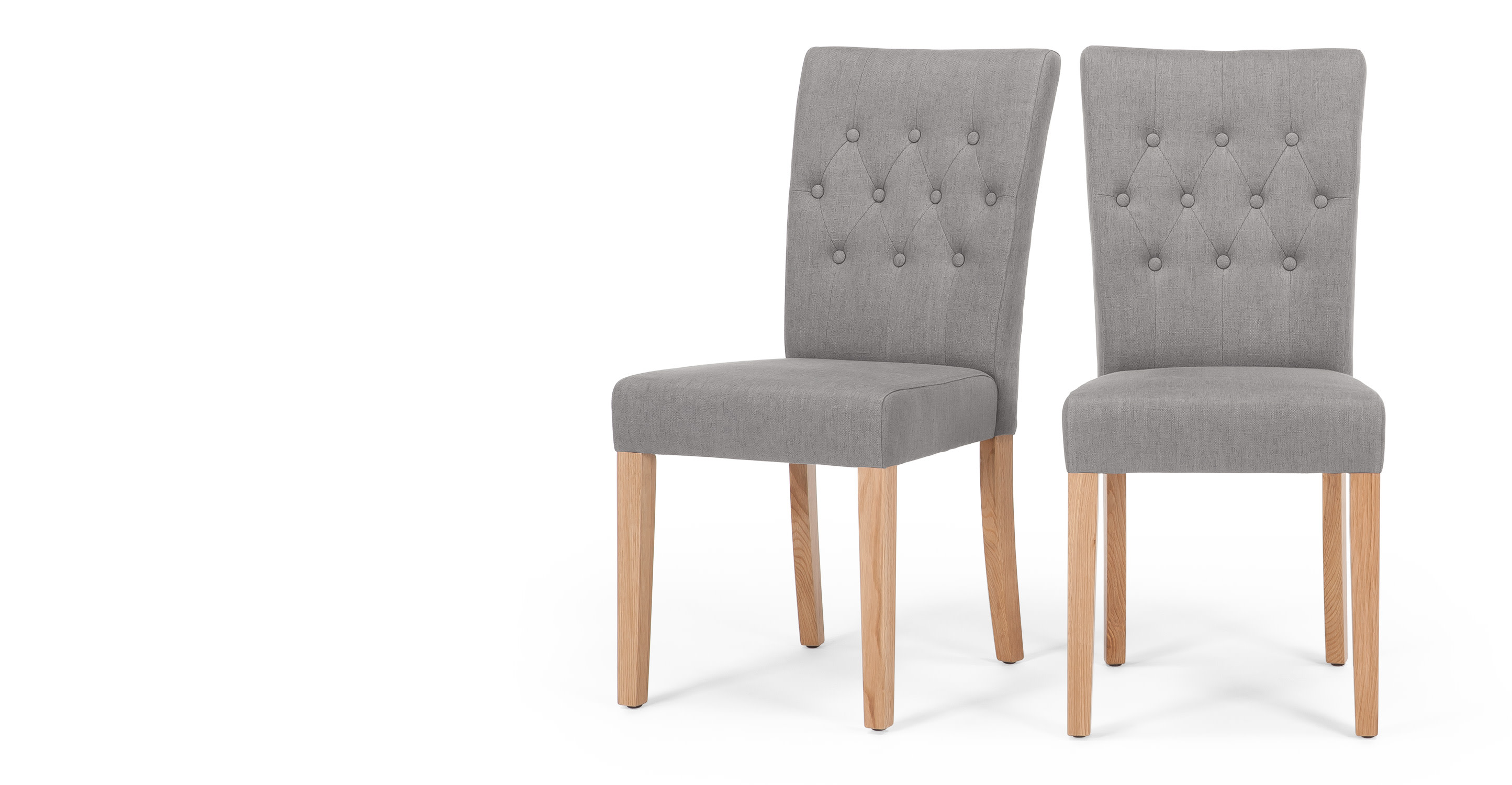 2x flynn dining chairs in graphite grey