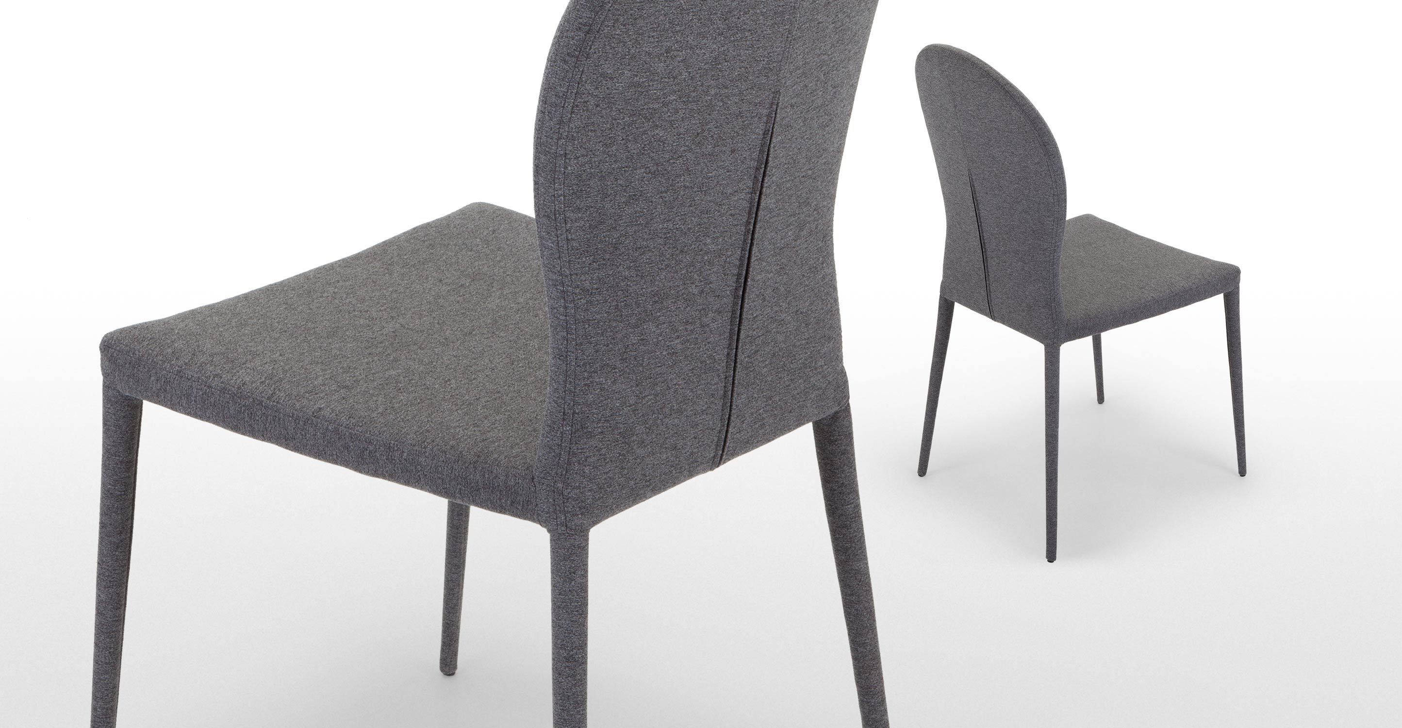 Pair Of Herzog Dining Chairs In Light Grey